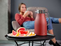 alfi carafe girl couch red interior
